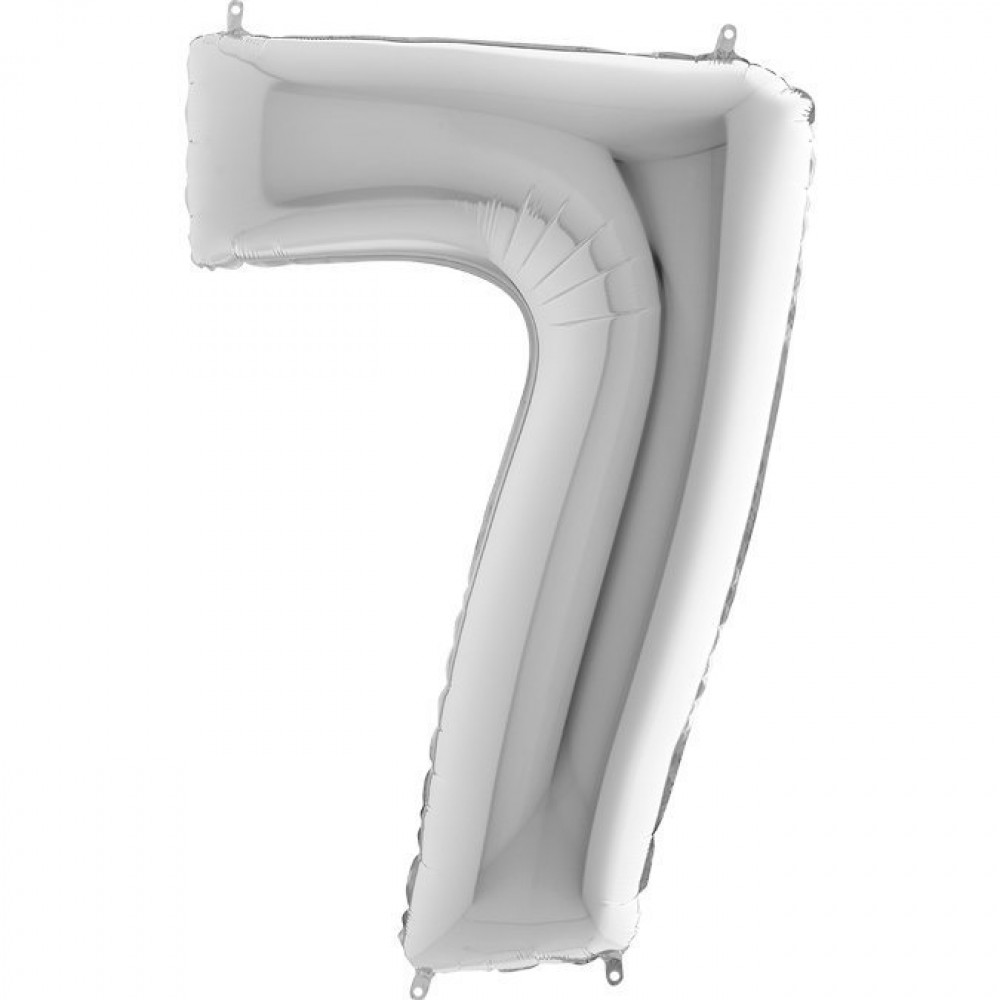7 Rakam Grabo Gümüş Folyo Balon 102 cm