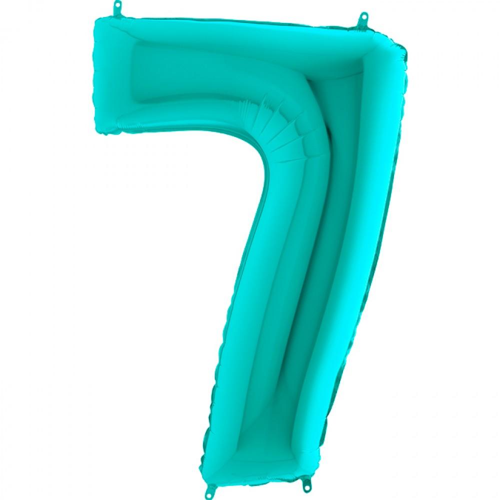 7 Rakam Grabo Tiffany Folyo Balon 102 cm