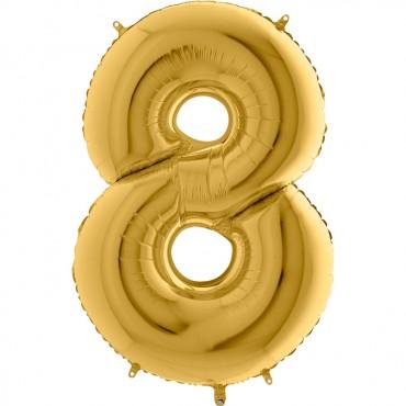 8 Rakam Grabo Altın Folyo Balon 102 cm