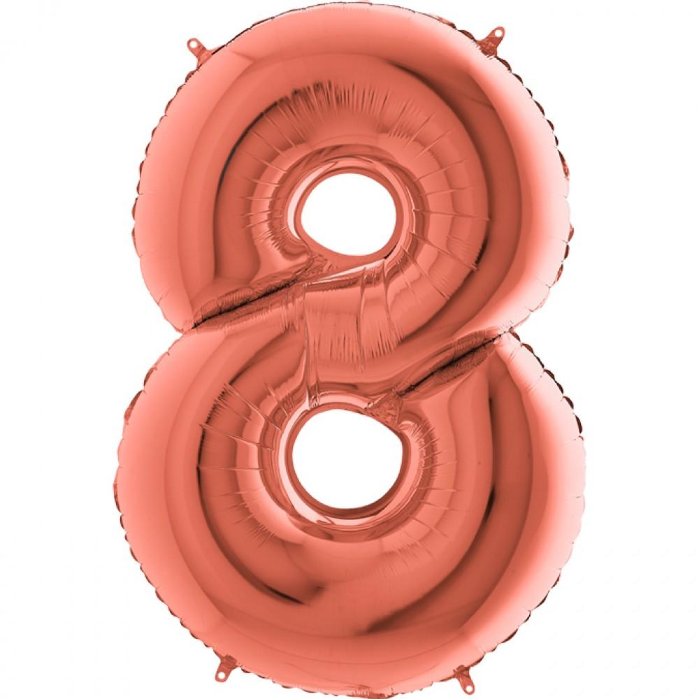 8 Rakam Grabo Rose Gold Folyo Balon 102 cm