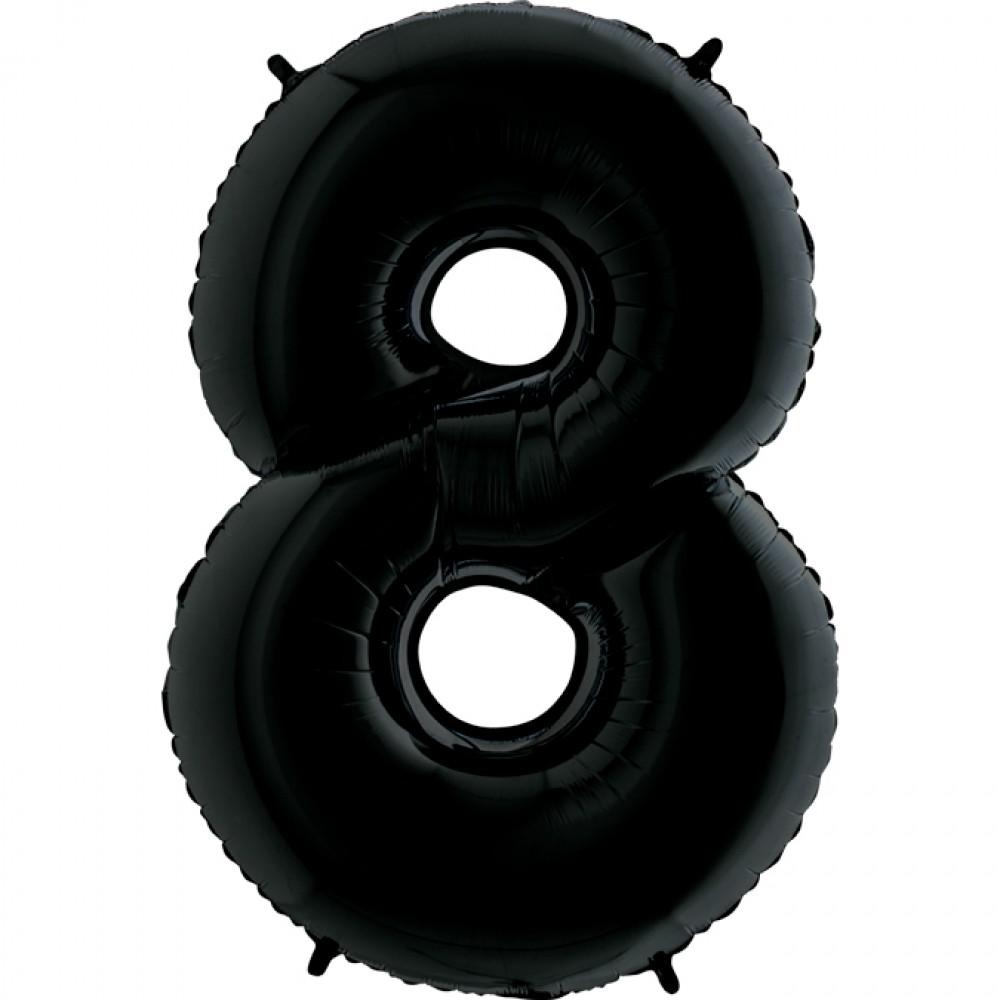8 Rakam Grabo Siyah Folyo Balon 102 cm