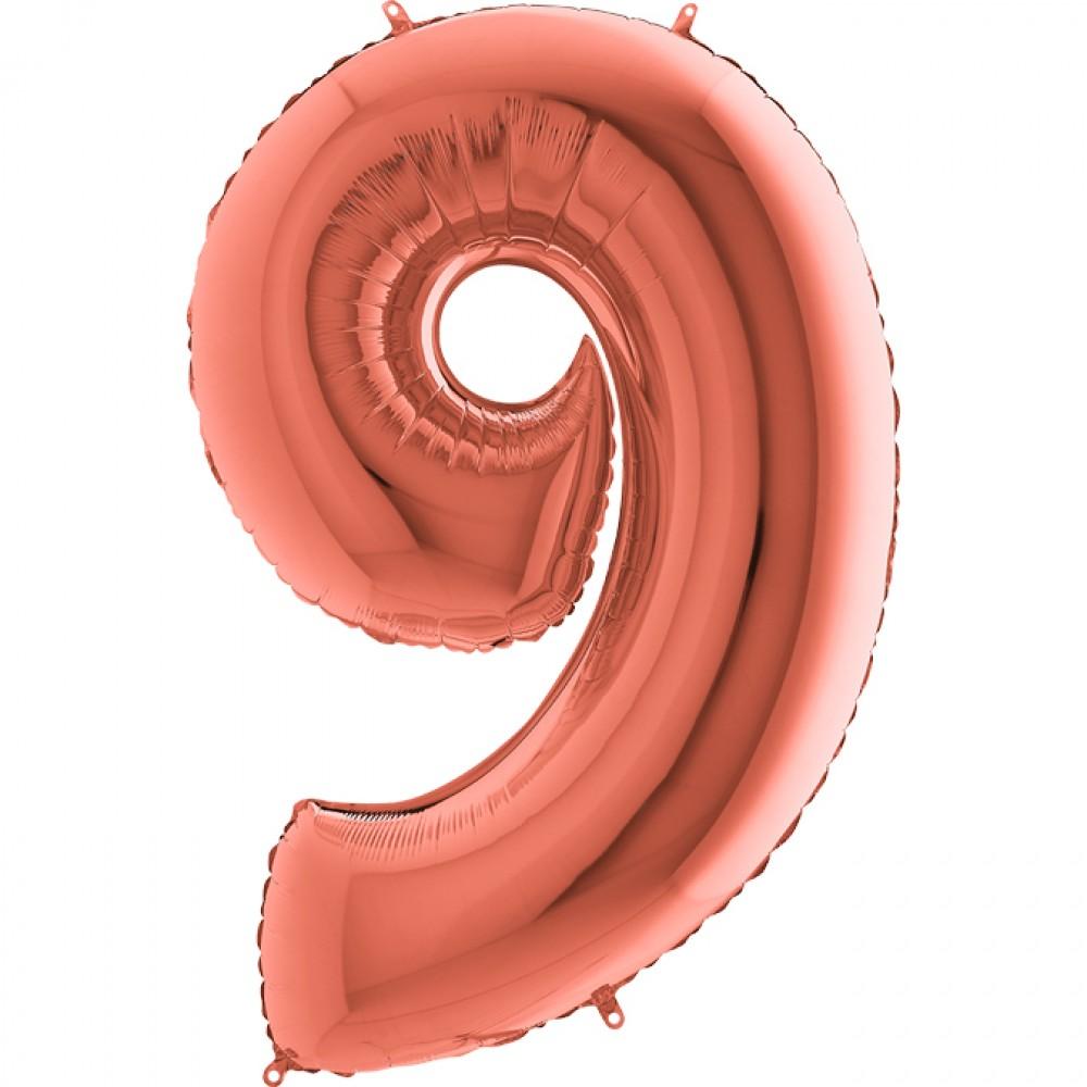 9 Rakam Grabo Rose Gold Folyo Balon 102 cm