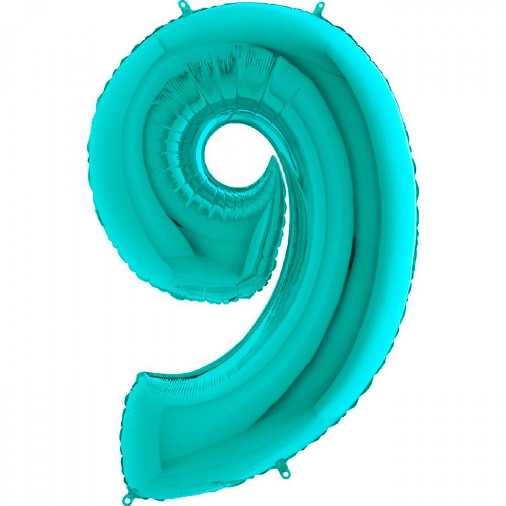 9 Rakam Grabo Tiffany Folyo Balon 102 cm