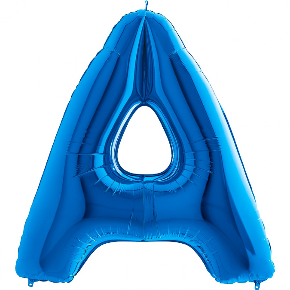 A Harf Grabo Mavi Folyo Balon 102 cm