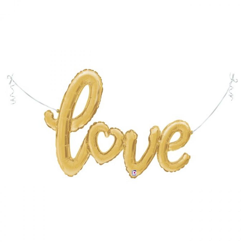Altın Love Grabo Folyo Balon 119 cm