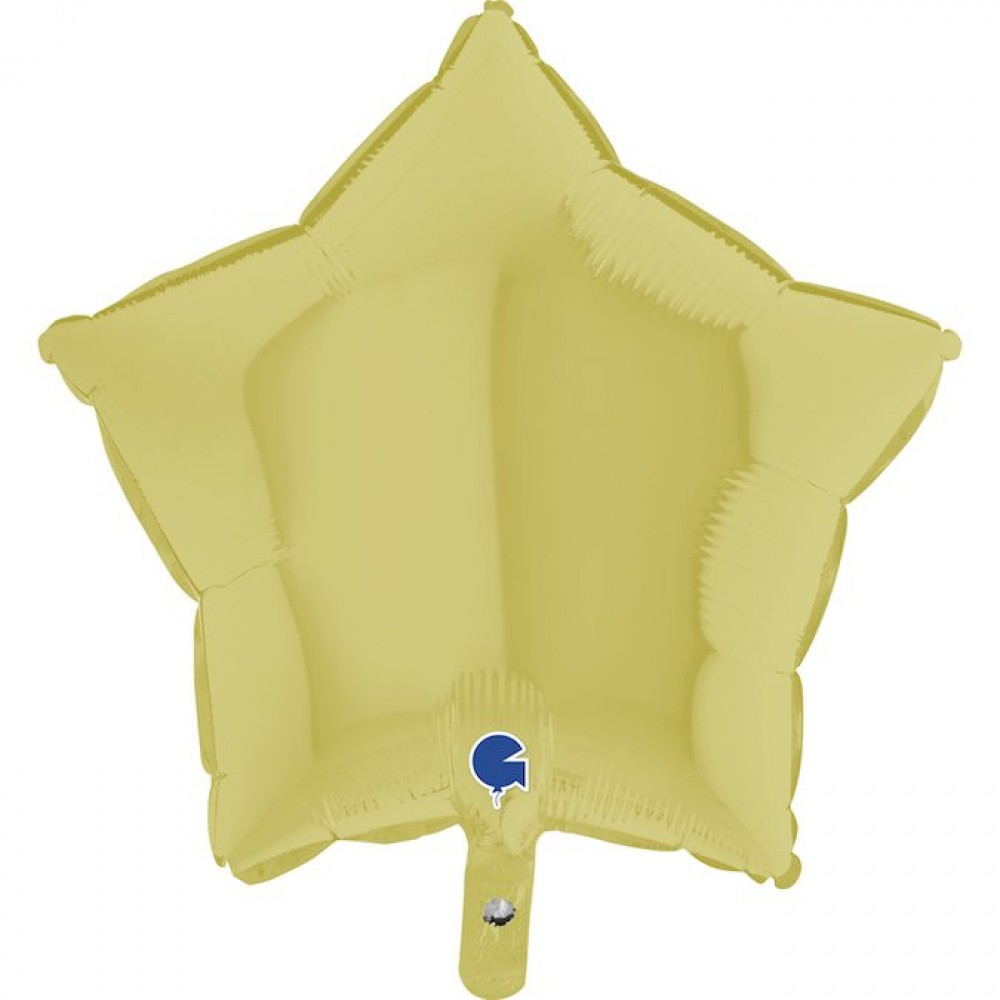 Altın Mat Yıldız Grabo Folyo Balon 46 cm