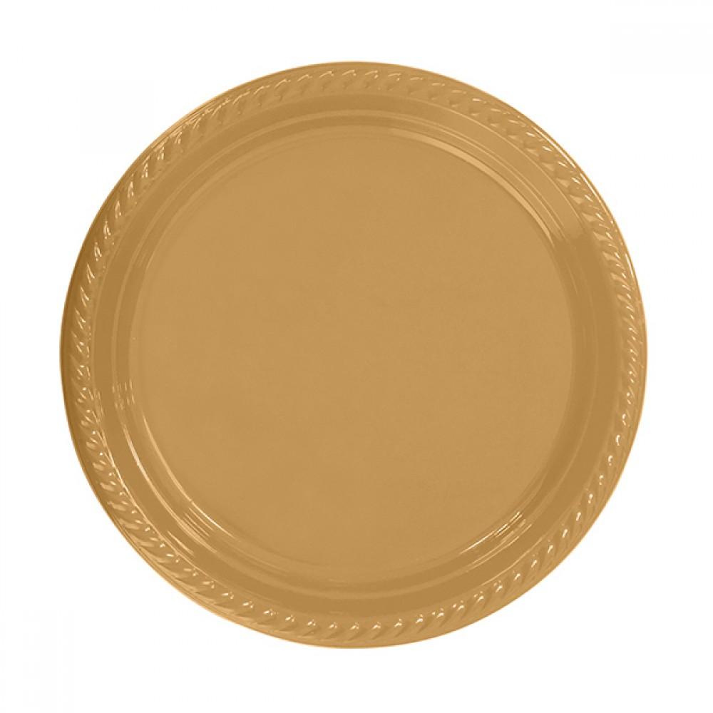 Altın Plastik Tabak 26 cm 8\'li