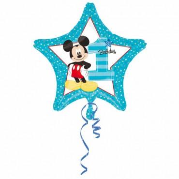 Mickey 1 Yaş Lisanslı Folyo Balon 45 cm
