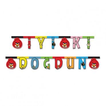Angry Birds İyi ki Doğdun Harf Afiş