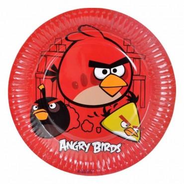 Angry Birds Karton Tabak 23 cm 8\'li