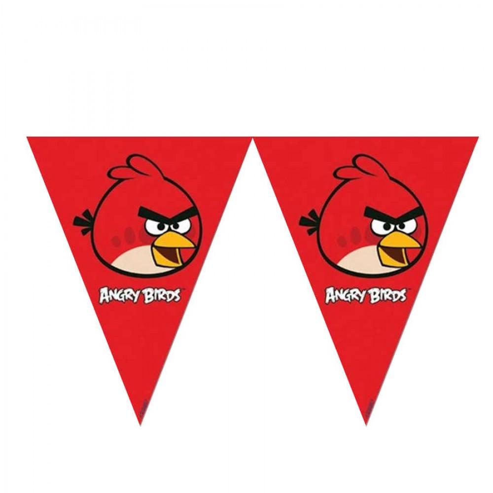 Angry Birds Lisanslı Üçgen Bayrak Afiş
