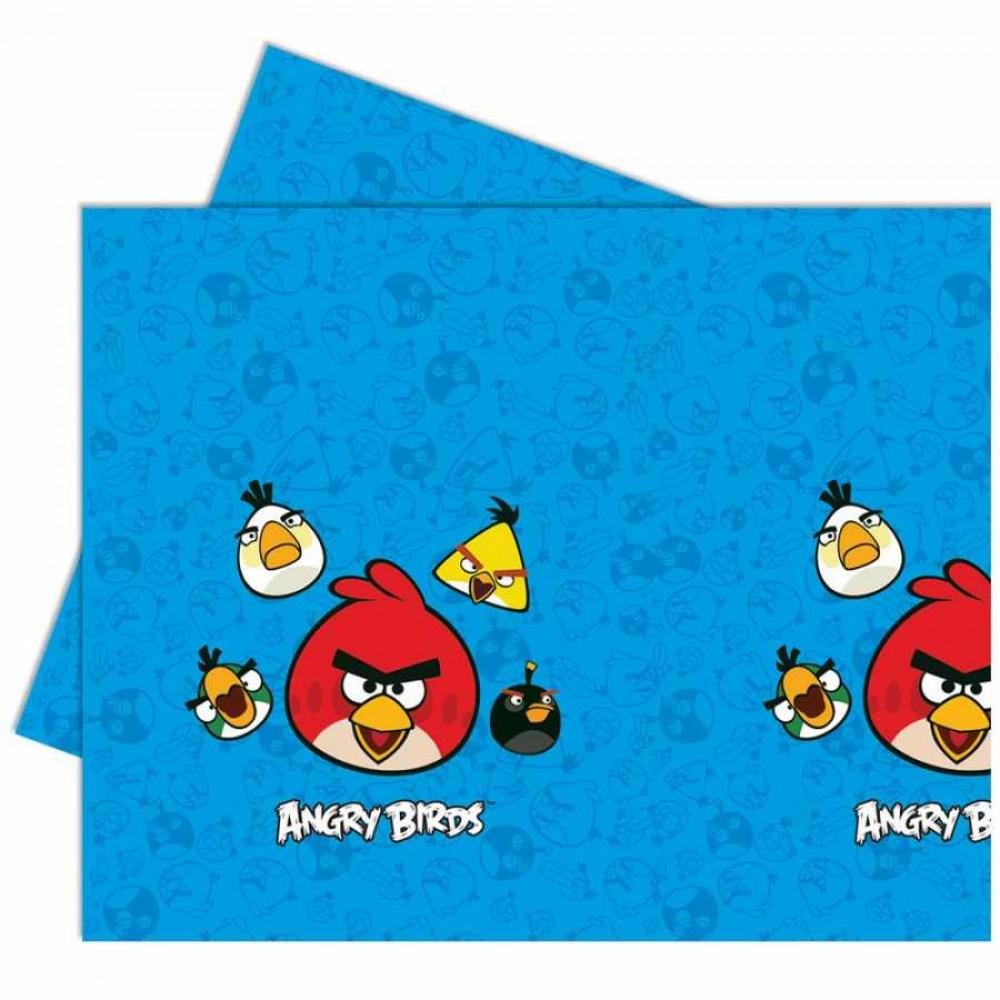 Angry Birds Plastik Masa Örtüsü 120x180 cm