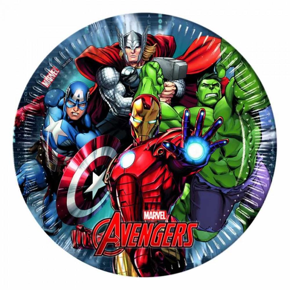 Avengers Karton Tabak 23 cm 8\'li