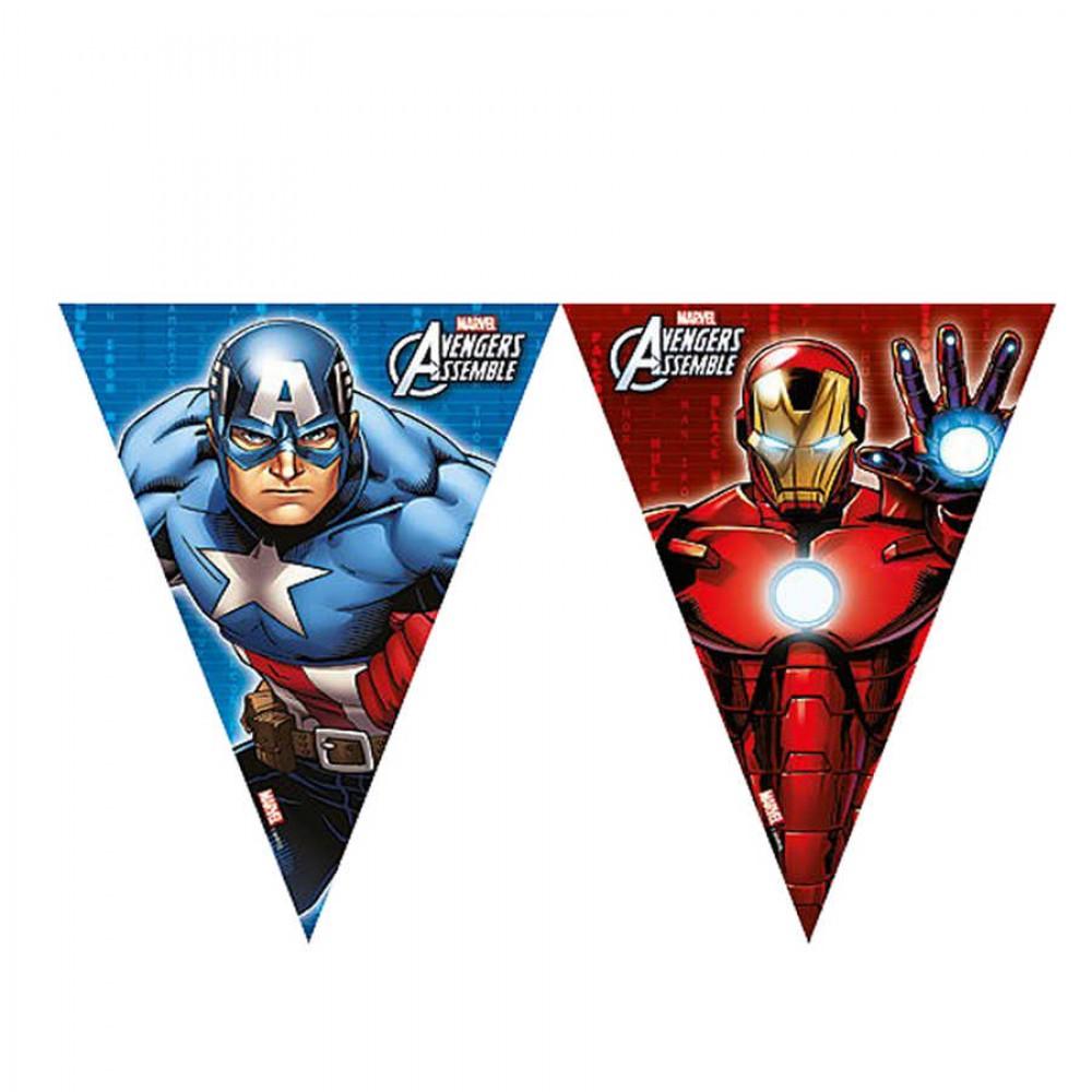 Avengers Lisanslı Üçgen Bayrak Afiş