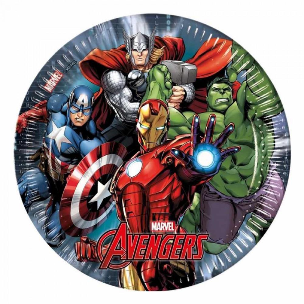 Avengers Power Karton Tabak 23 cm 8\'li