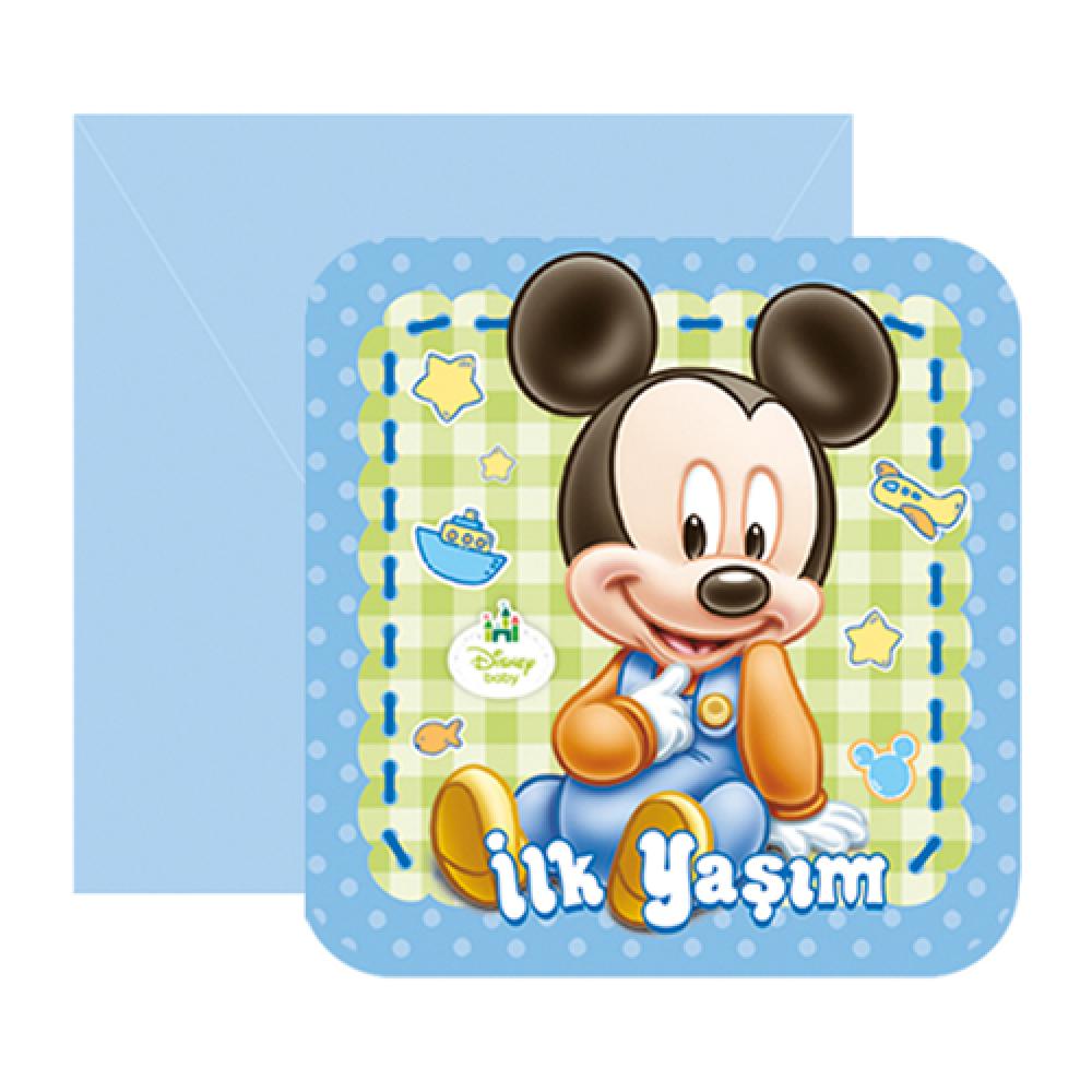 Baby Mickey Davetiye