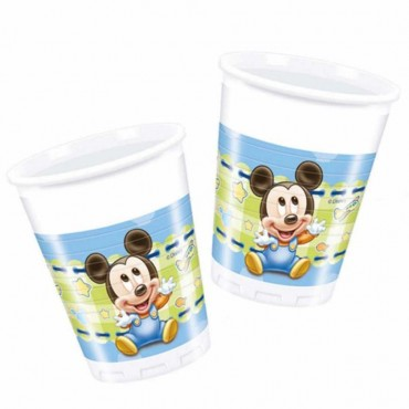 Baby Mickey Plastik Bardak 200cc 8\'li