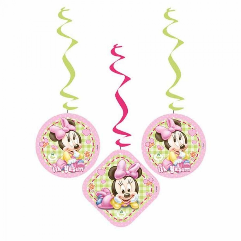 Baby Minnie Mouse Asma Kağıt Süs