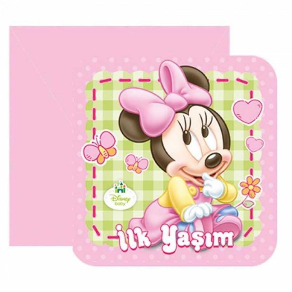 Baby Minnie Mouse Davetiye
