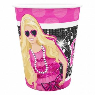 Barbie Karton Bardak 8\'li