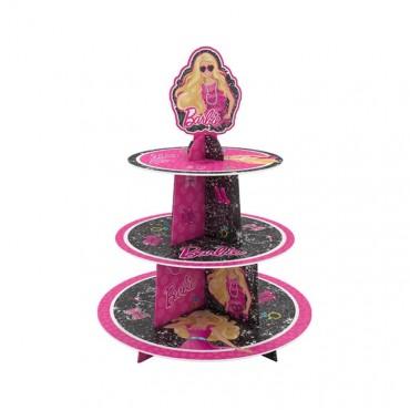 Barbie Lisanslı Cupcake Standı