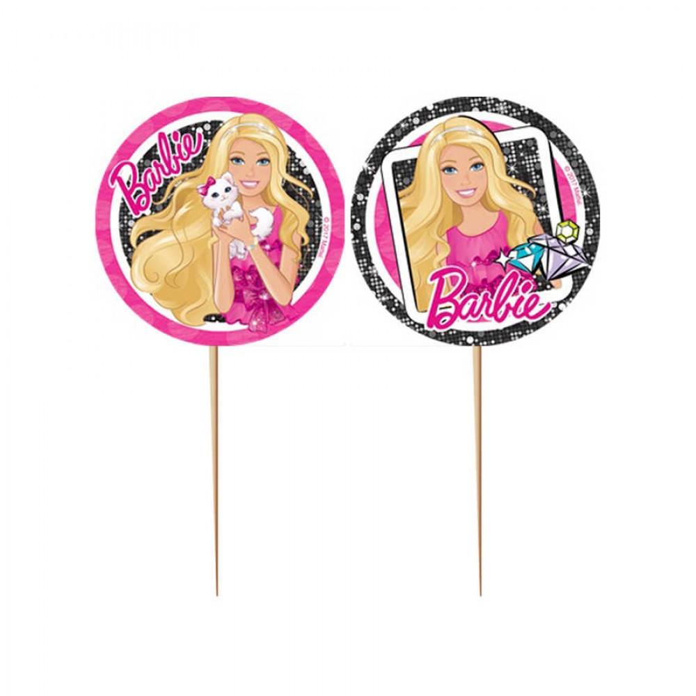 Barbie Lisanslı Kürdan 10\'lu