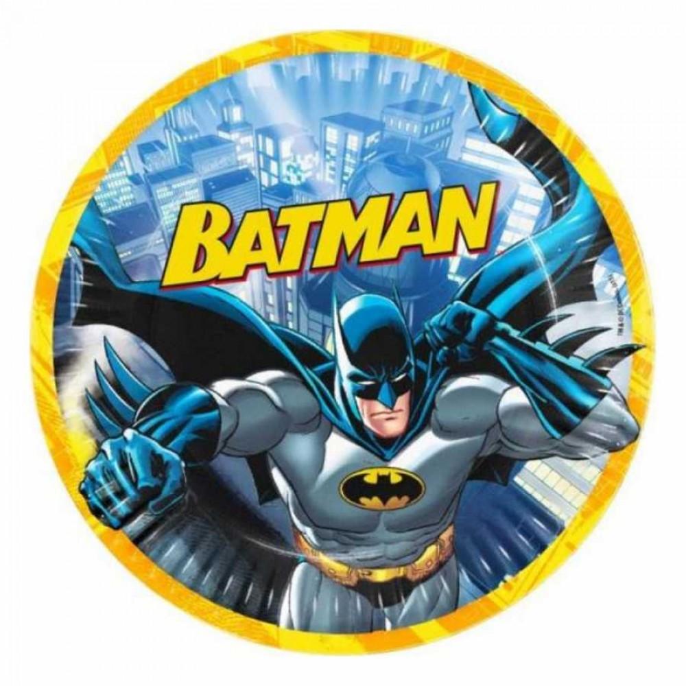 Batman Karton Tabak 23 cm 8\'li