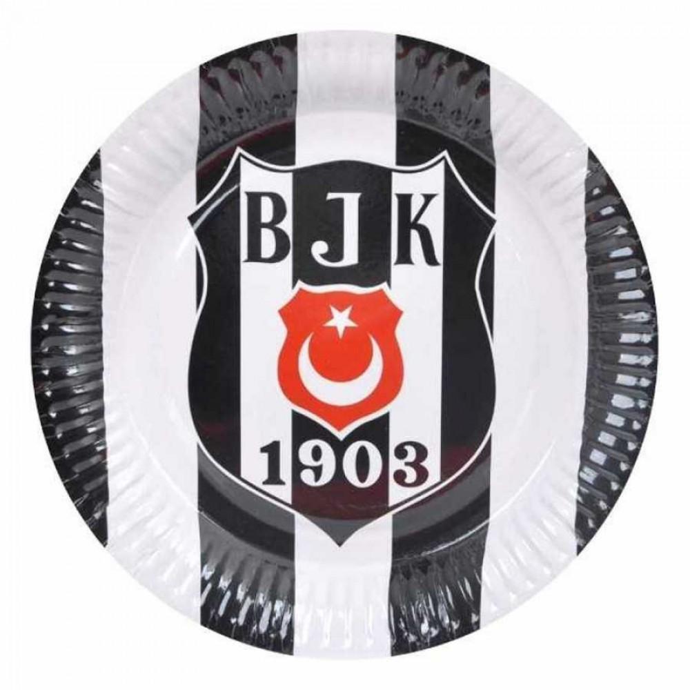 Beşiktaş Karton Tabak 23 cm 8\'li