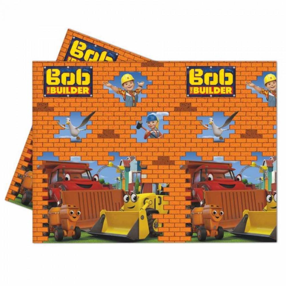 Bob The Builder Plastik Masa Örtüsü 120x180 cm