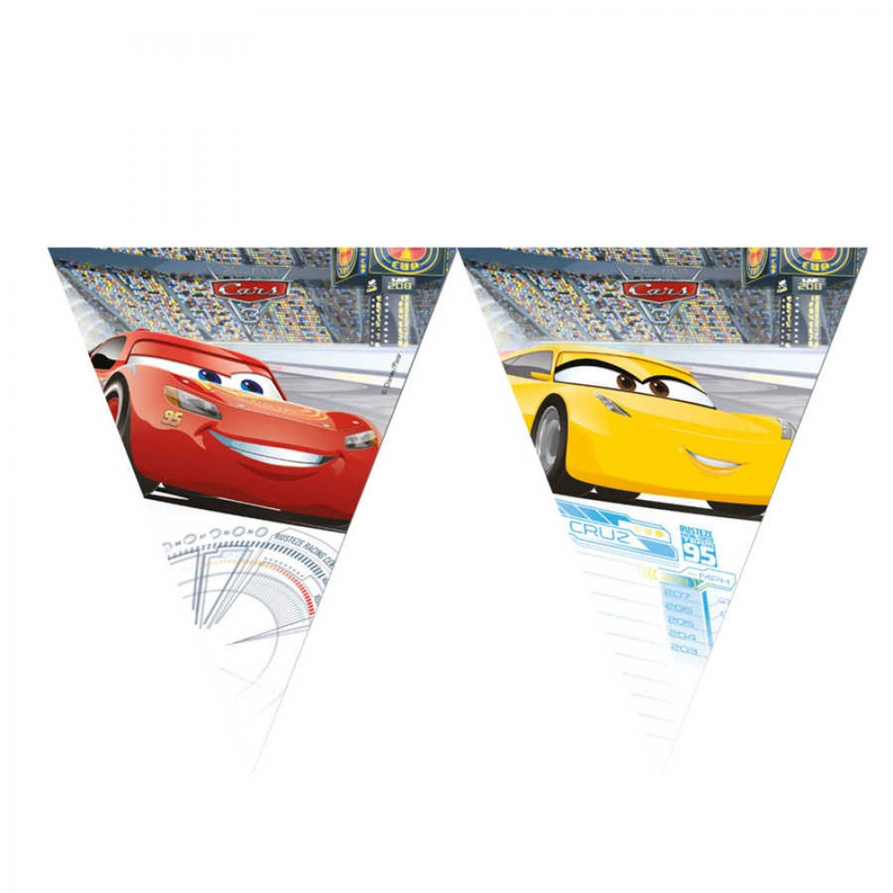 Cars 3 Lisanslı Üçgen Bayrak Afiş