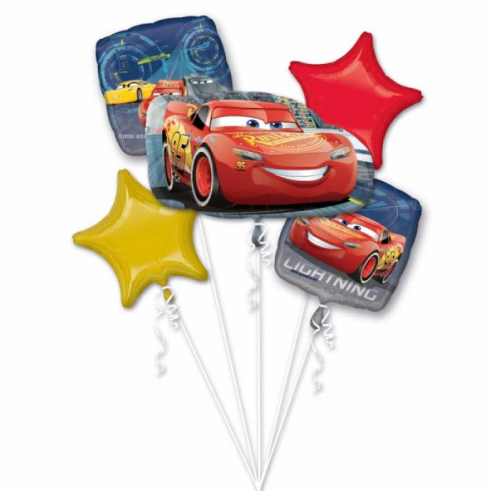 Cars Folyo Balon Buketi 5\'li
