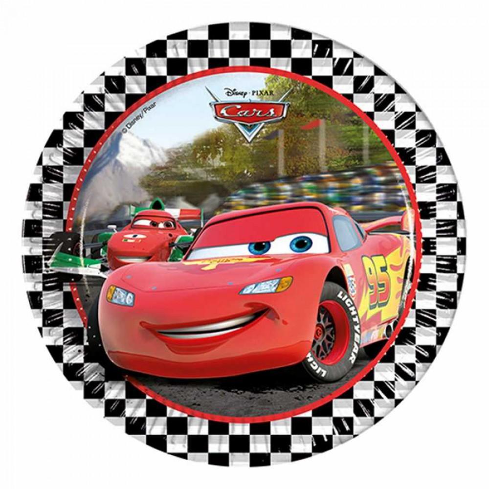 Cars Formula Karton Tabak 23 cm 8\'li