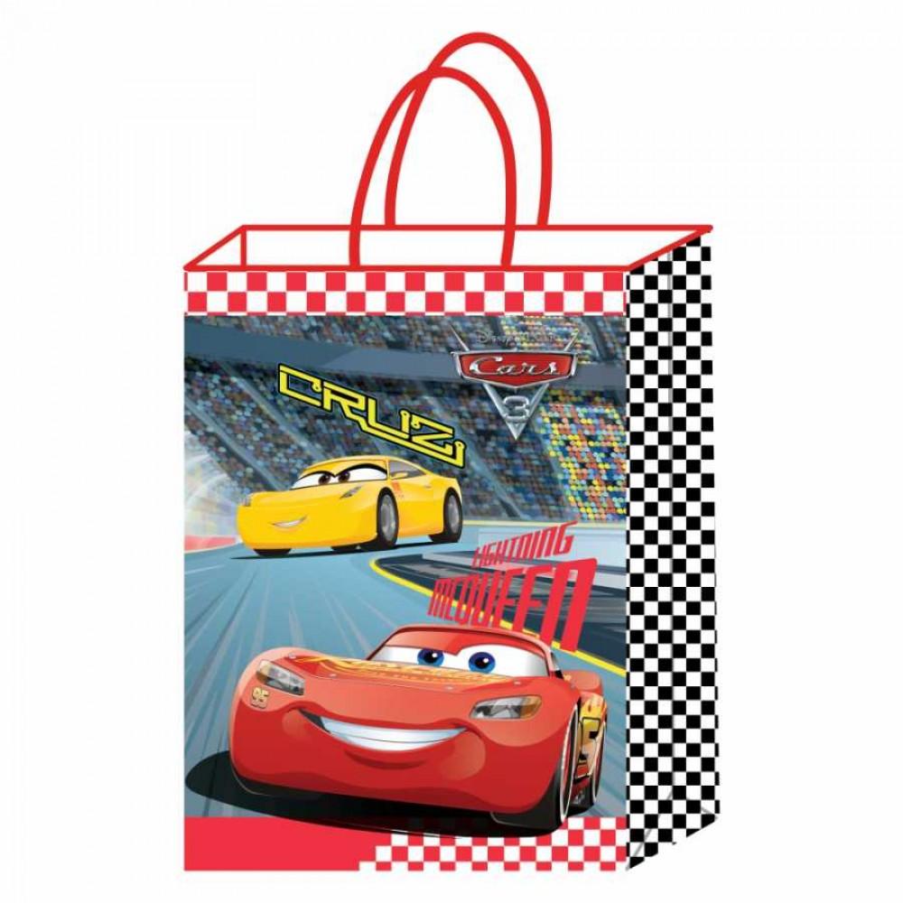 Cars Lisanslı Kraft Hediye Çantası 18x8x24 cm 12\'li