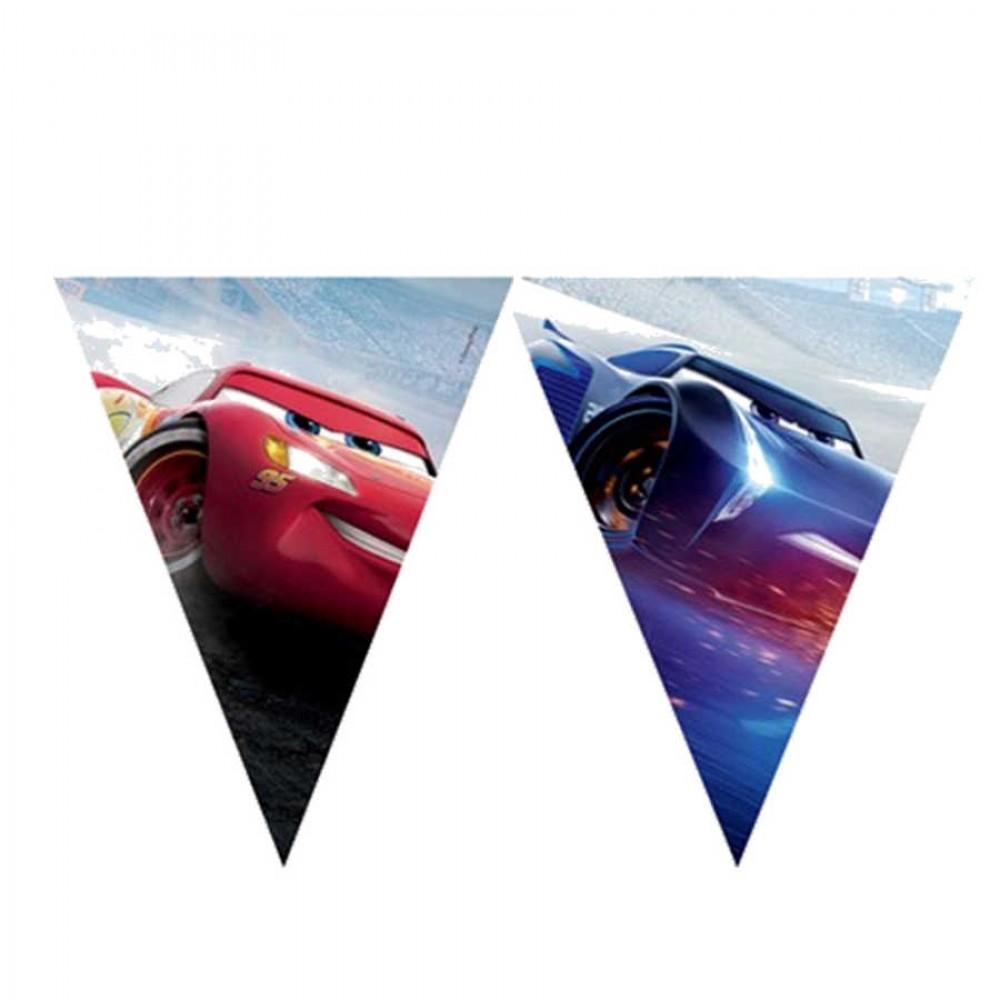 Cars The Legend Of The Track Lisanslı Üçgen Bayrak Afiş