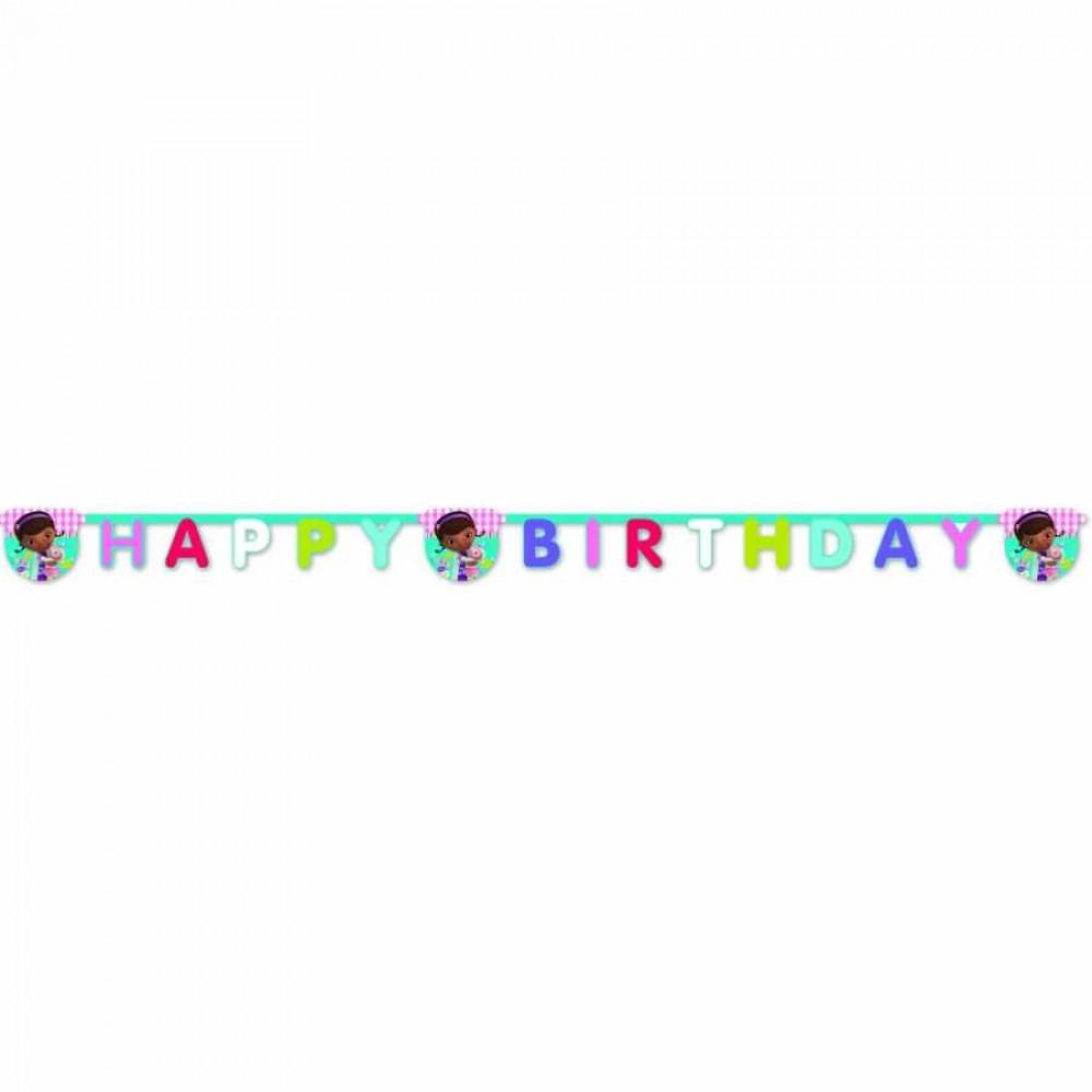 Doc McStuffins Happy Birthday Harf Afiş