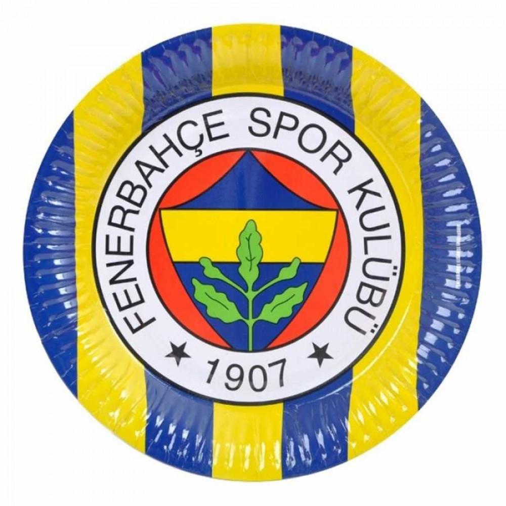 Fenerbahçe Karton Tabak 23 cm 8\'li