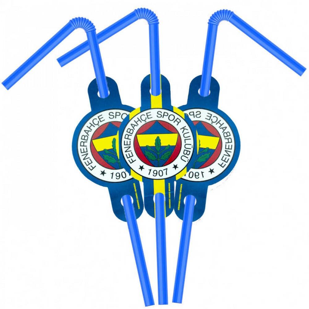 Fenerbahçe Lisanslı Pipet 6\'lı