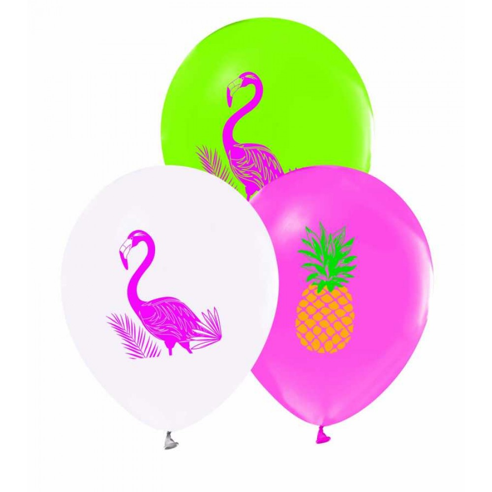 Flamingo Baskılı Balon 100\'lü