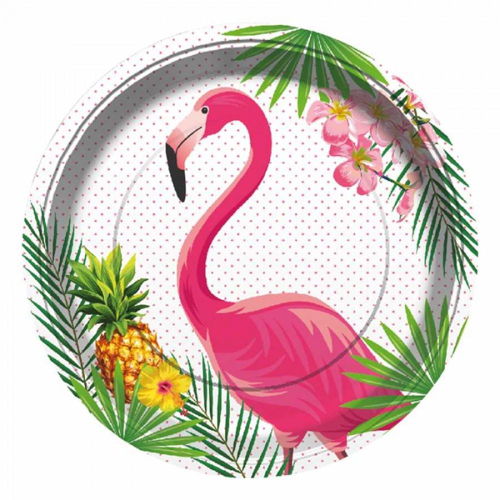 Flamingo Karton Tabak 23 cm 8\'li