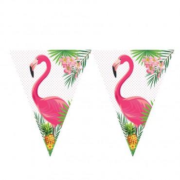 Flamingo Lisanslı Üçgen Bayrak Afiş
