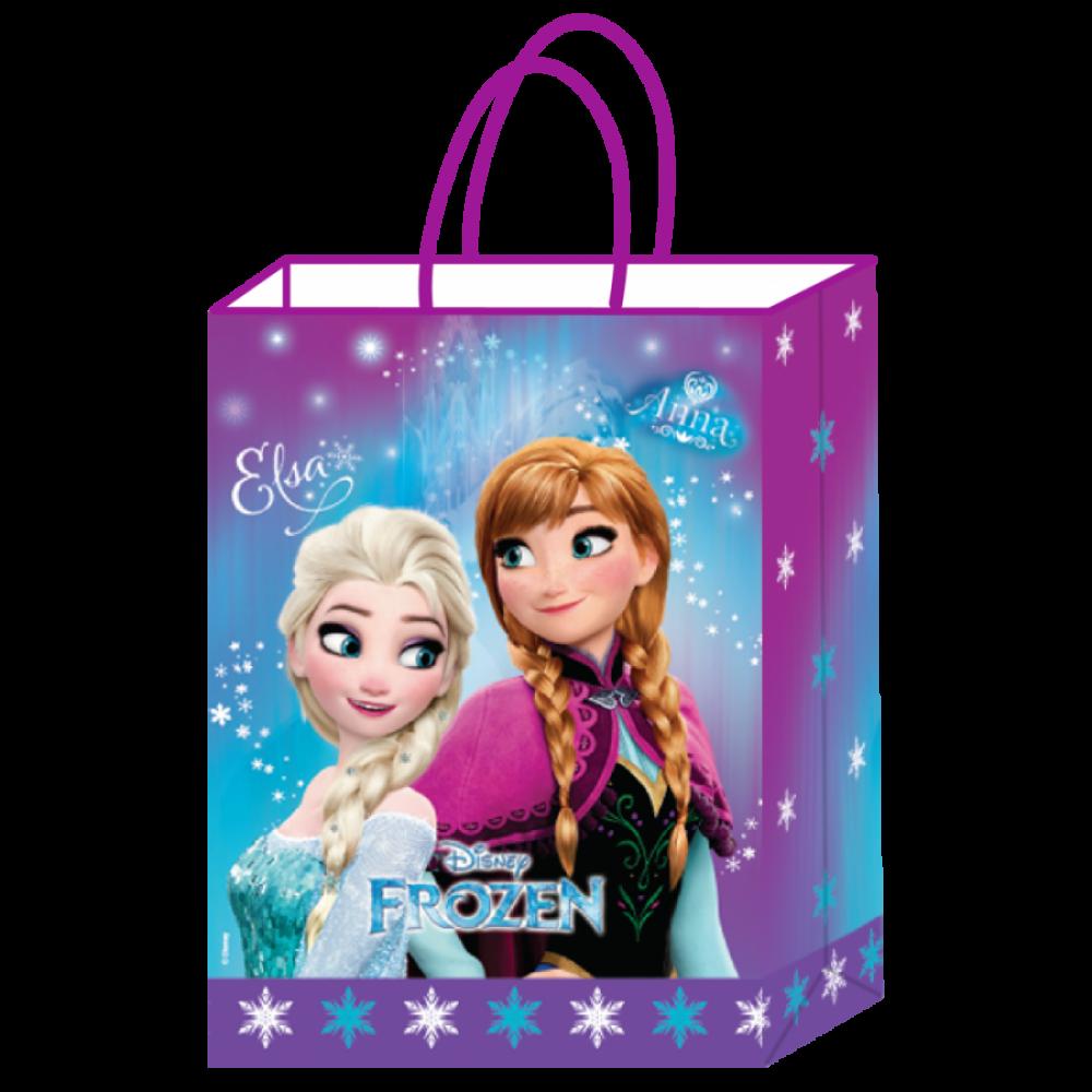 Frozen Lisanslı Kraft Hediye Çantası 18x8x24 cm 12\'li