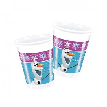 Frozen Buz Işıltısı Plastik Bardak 200cc 8\'li