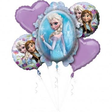 Frozen Folyo Balon Buketi 5\'li
