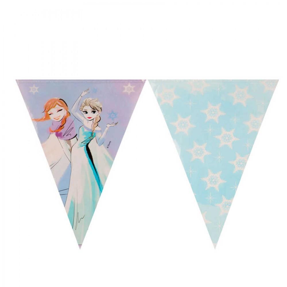 Frozen Sparkle Lisanslı Üçgen Bayrak Afiş