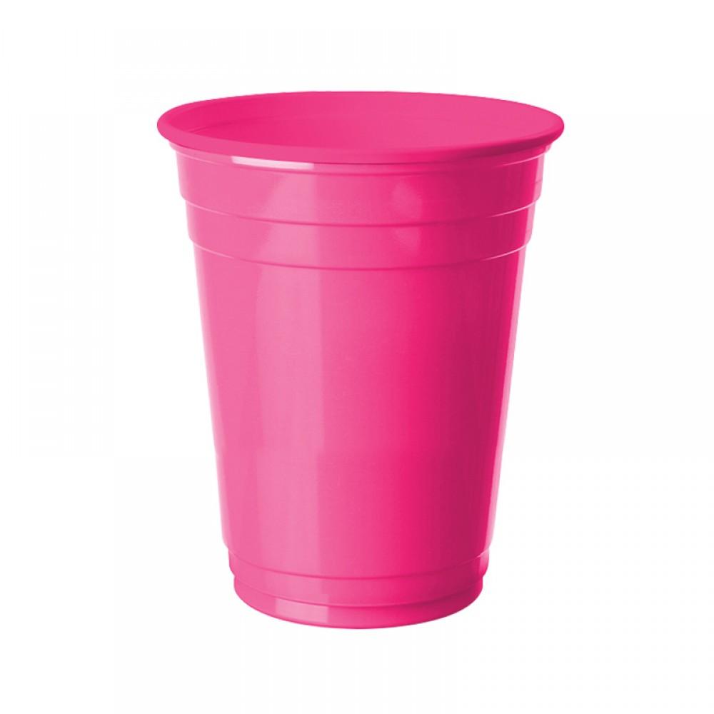 Fuşya Plastik Büyük Meşrubat Bardağı 8\'li