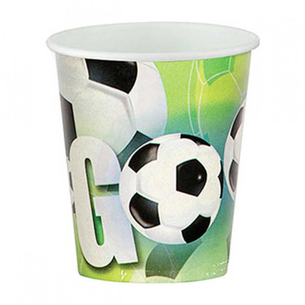 Futbol Partisi Karton Bardak 8\'li