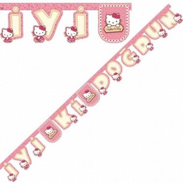 Hello Kitty İyi ki Doğdun Harf Afiş