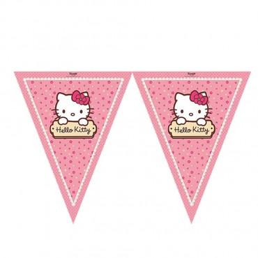 Hello Kitty Lisanslı Üçgen Bayrak Afiş