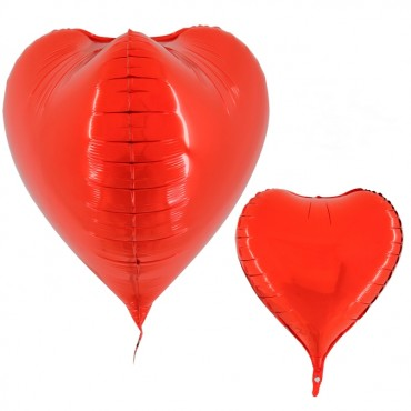 3 Boyutlu Kırmızı Kalp Grabo Folyo Balon 59 cm