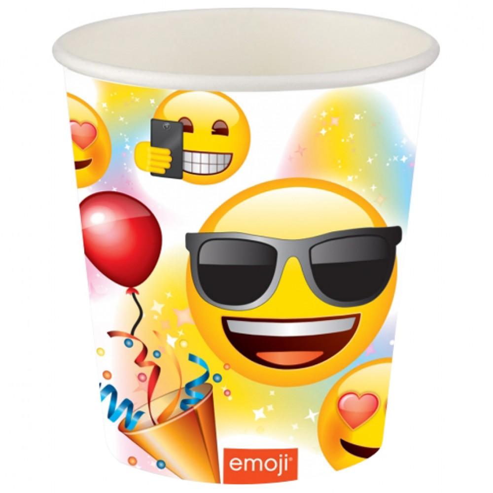Emoji Parti Karton Bardak 8\'li